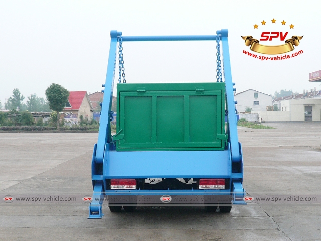 Back view of 4 CBM Skip Loader - Dongfeng