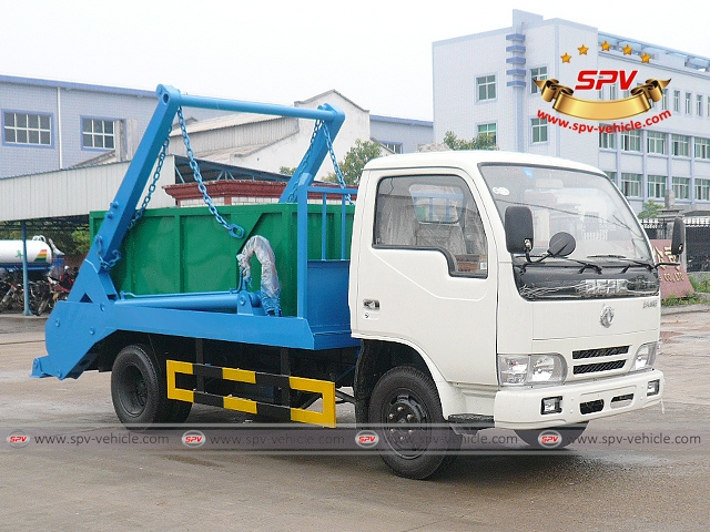 Front side view of 4 CBM Skip Loader - Dongfeng