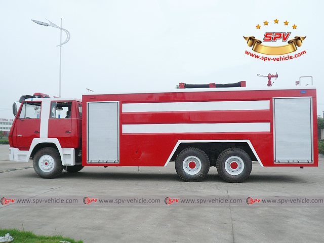 Side view of Fire Engine-Shacman