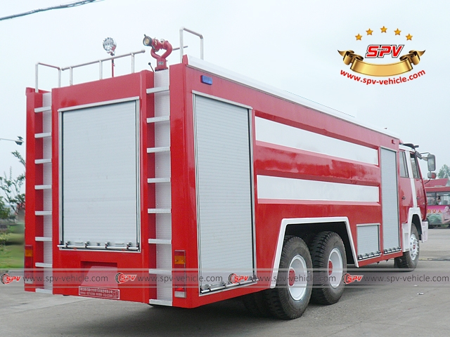 Right back view of Fire Engine-Shacman