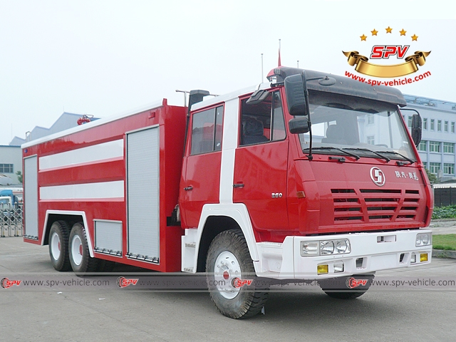 Right front view of Fire Engine-Shacman
