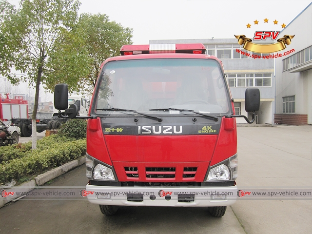 Front view of Fire Apparatus ISUZU