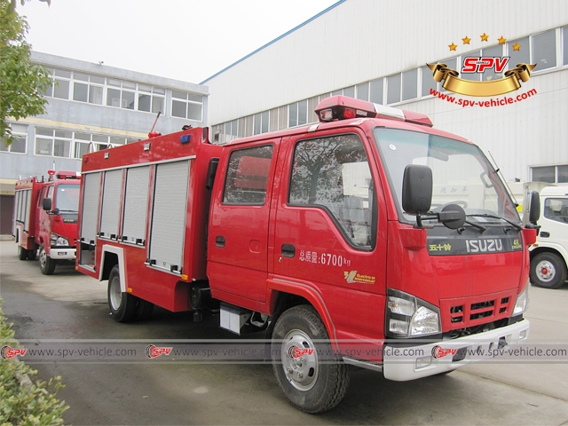 Right front view of Fire Apparatus ISUZU