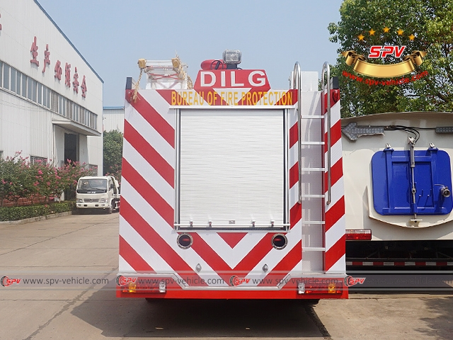 Back View of Fire Apparatus-Sinotruck