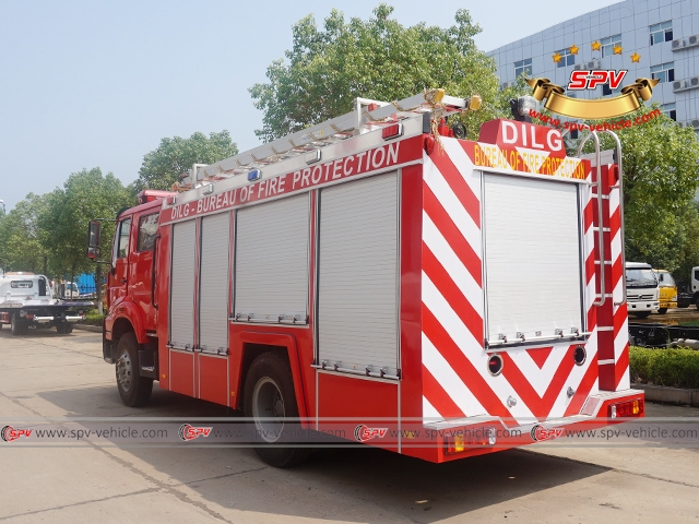 Left Back View of Fire Apparatus-Sinotruck