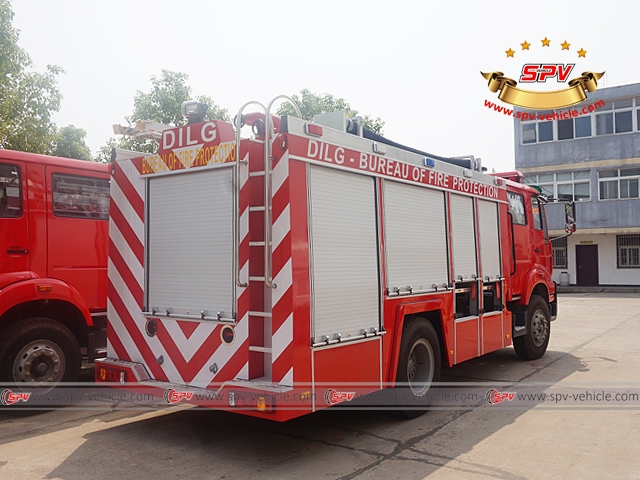 Right Back View of Fire Apparatus-Sinotruck