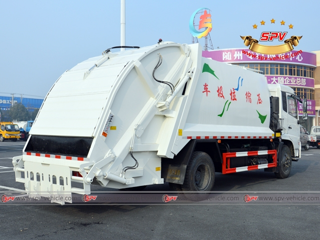 10,000 Litres Dongfeng kingrun compactor garbage truck - right side view