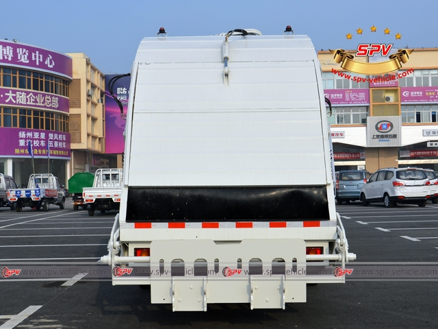 10,000 Litres Dongfeng kingrun compactor garbage truck back view
