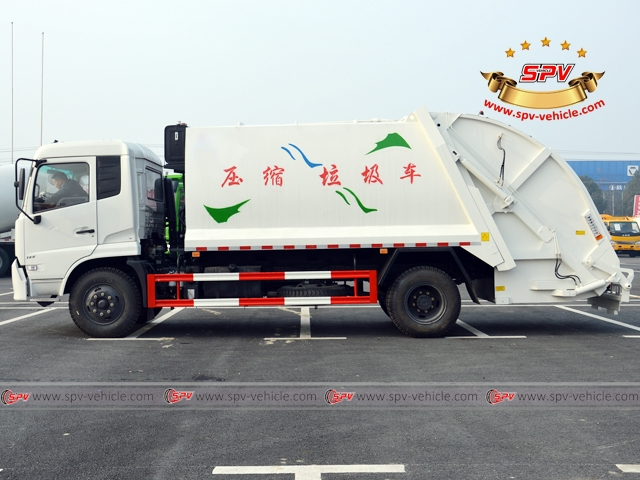 10,000 Litres Dongfeng kingrun compactor garbage truck