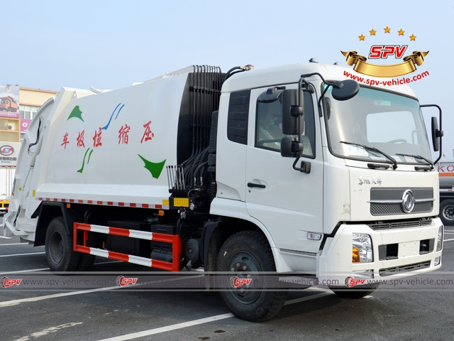 10,000 Litres Dongfeng kingrun compression garbage truck