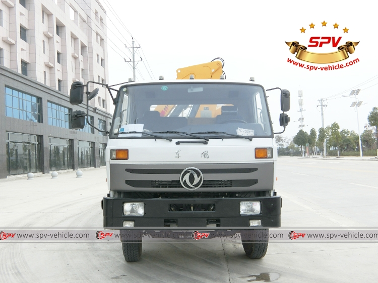 Front view of 5 Ton Self loader truck Dongfeng