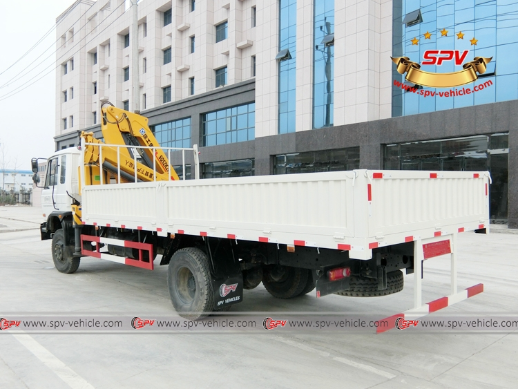 Left back view of 5 Ton Self loader truck Dongfeng