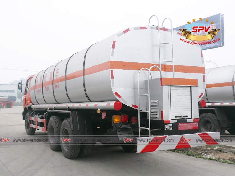 Left back view of Bitumen Tank Truck Dongfeng