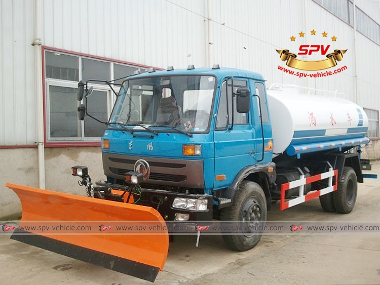 Water Tank Truck with snowplow-LF
