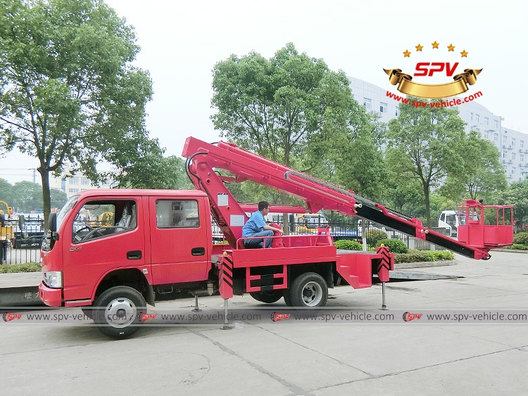 16M  Telescopic Beam Lifter Dongfeng - Operation