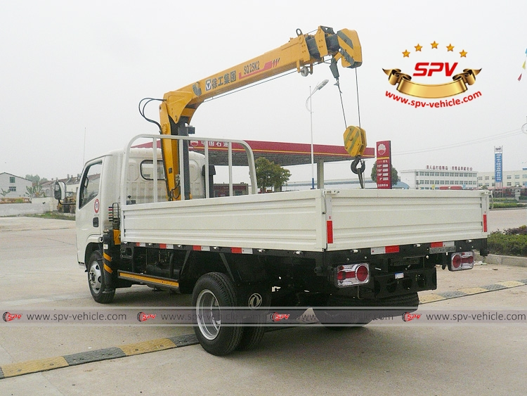 2 Tons Telescopic Boom Crane Dongfeng - LB - White