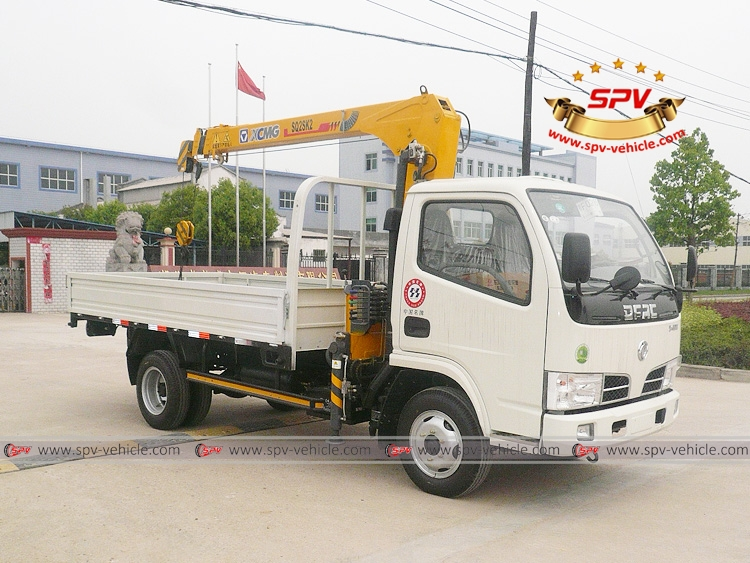 2 Tons Telescopic Boom Crane Dongfeng - RF - White