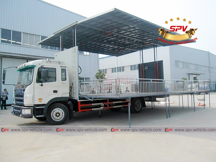6 8m Mobile Stage Truck JAC, Outdoor Show Truck , Mobile