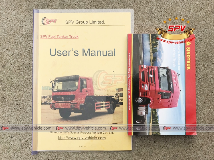 10,000 Litres 4X4 Fuel Tank Truck Siontruk - Users Manual