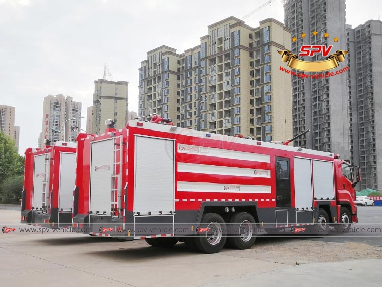 To Morocco - 2 units of ISUZU fire fighting truck in Sep, 2018