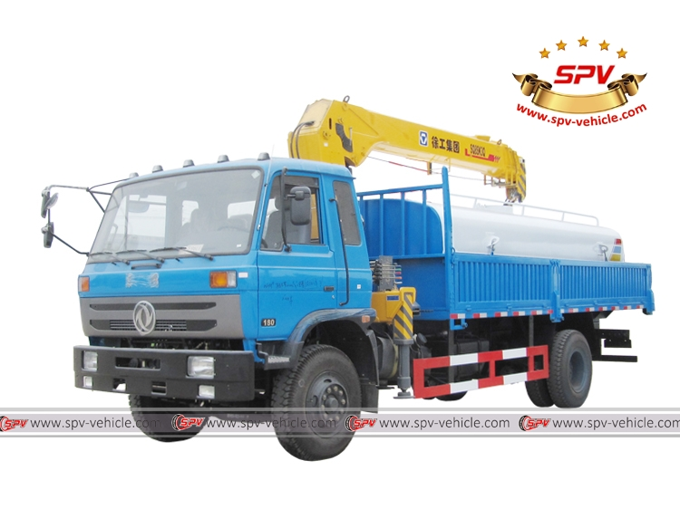 Crane mounted Cargo Truck Dongfeng