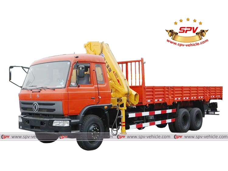 8 Tons Truck with Loading Crane, Truck Mounted Knuckle Crane